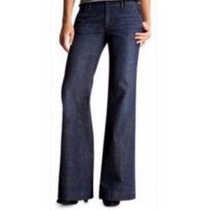 GAP Striped Wide Leg Denim Trousers